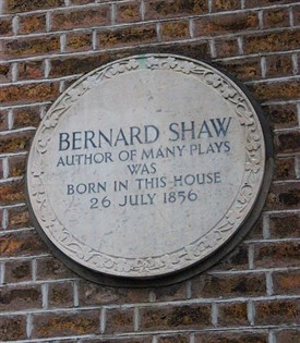 Photo:Shaw was born at 33 Synge Street, Portobello, Dublin.