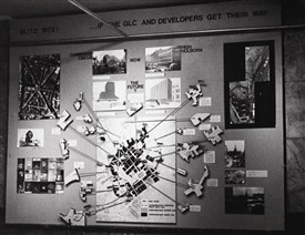Photo:Blitz exhibition predicting GLC Development Project 1972