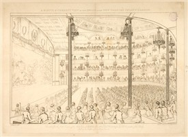 Photo:Interior view of the Theatre Royal, Covent Garden, during a performance. Drawing by G. Argenzio; etched and engraved by Heideldorf. 1810.