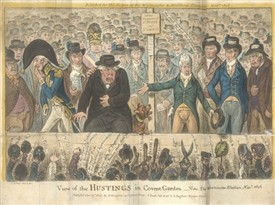 Photo:View of the Hustings in Covent Garden, 1806