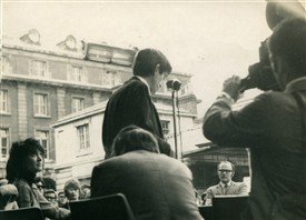 Photo:Public meeting held on the 22nd April 1971