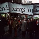 Photo:Reverend Austen Williams, Brian Anson, and Jim Monahan lead a community march, taking back London for the people.