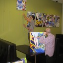 Photo:Still at it 2011 hanging my show in the 7 Dials club with Carmina