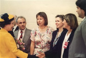 Photo:Queen, David Beida, Rugth Cadbury, Kathy Pimlott, Frances Mckeller
